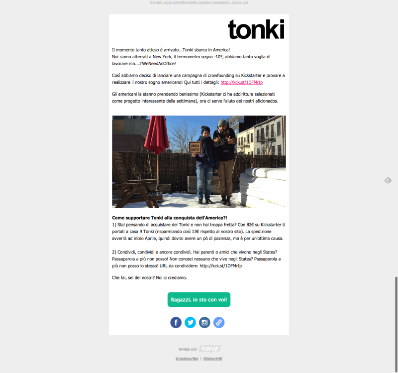 comunicati stampa e newsletter tonki 2