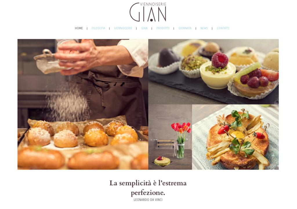 testi siti web   architettura dei contenuti   sito web  Viennoiserie Gian